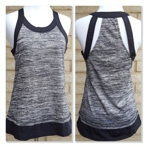 Head Space Dye Racerback Cut-Out Workout Top